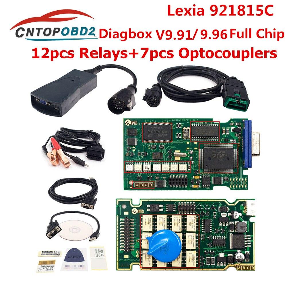 Golden lexia 3 PP2000 Full Chip Diagbox lexia V9.96 921815C Lexia3 V9.91 V48/V25 For Citroen For Peugeot OBD2 Diagnostic Tool