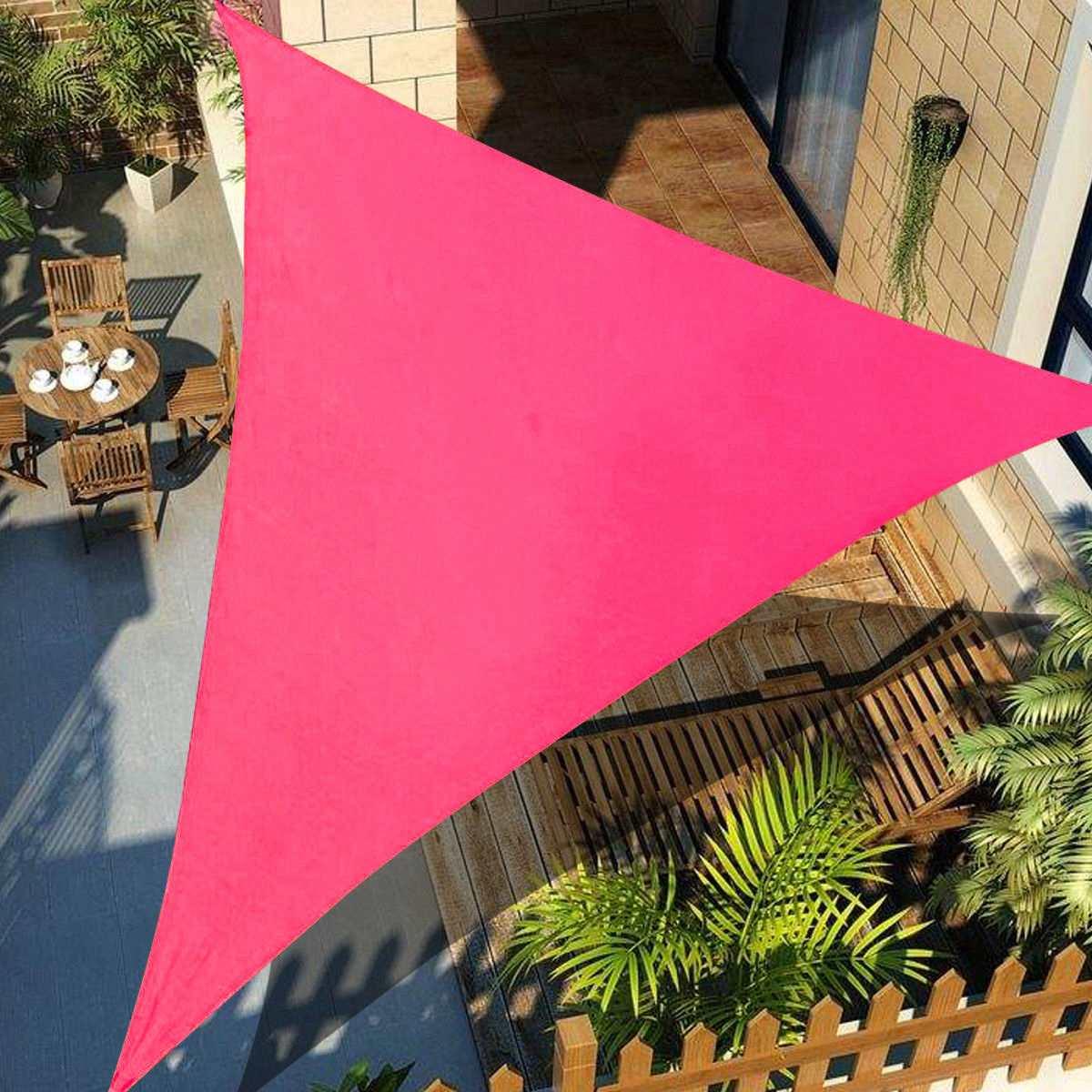 Rosa Roja 300D 160GSM poliéster Oxford tela cuadrada rectangular triángulo sombra vela piscina cubierta tienda para la protección solar impermeable Nuevas luces de techo modernas, lámpara de comedor de diseño moderno, lámpara colgante de cristal, sombra blanca, brillo Acrílico