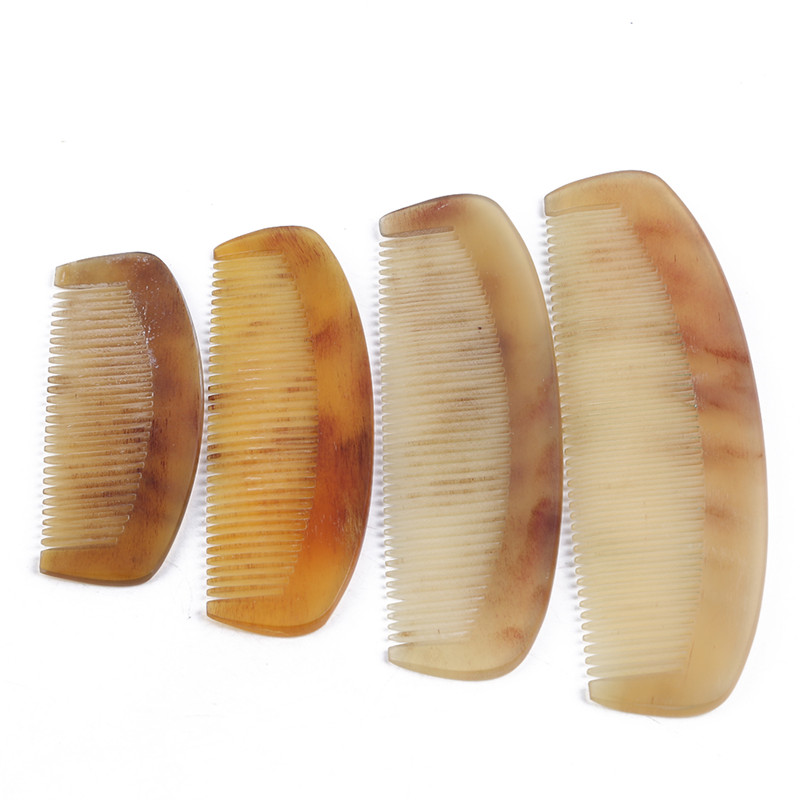 1Pcs Fashion Hot Women Natural Amber Ox Horn Comb of Hair No Static Health Care Hair Brush Hairdressing Tool