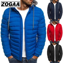 ZOGAA Brand 2019 Winter Jacket Men Hooded Coat Causal Zipper Mens Jackets Parka Warm Clothes Streetwear clothing