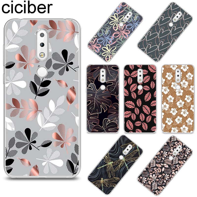 ciciber Tree Leaves Cover for <font><b>Nokia</b></font> X6 X7 X5 X3 TPU Phone Case for <font><b>Nokia</b></font> 9 8 8.1 7 7.1 6 <font><b>6.1</b></font> 5 5.1 3 3.1 2 2.1 1 Plus PureView image