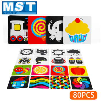Baby Toy Learning Color Card Black White Visual Card High Contrast Book Visual Excitation Early Educational Toys For Children high quality black white flash cards early education card high contrast concentration training flash card for babies 0 6 months