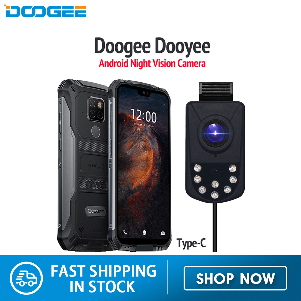 Doogee Dooyee 2MP Android Night Vision Camera With 8 Of Night Vision Light For Doogee S95 Pro S68 Pro S80 S70