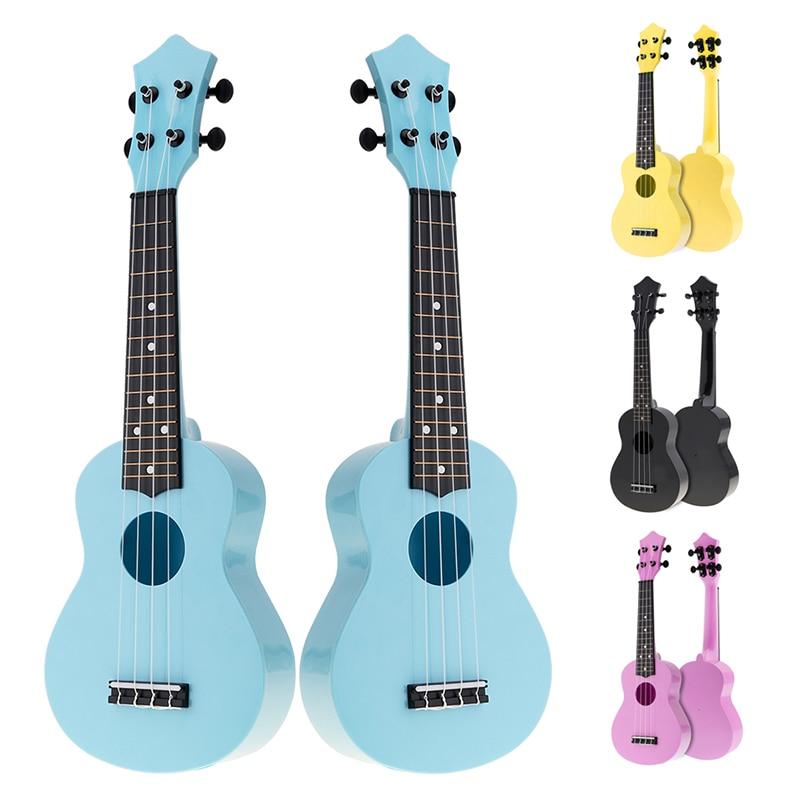 21 Inch Colorful Acoustic Ukulele 4 Strings Hawaiian Guitar Guitarra Instrument For Kids Beginner Or Basic Players