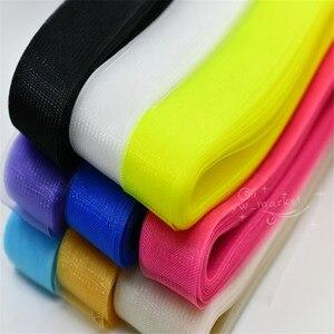 Image 2 - 3cm 8cm kolor splot z włosia końskiego siateczkowa tkanina fascynator ślubny krynolina do sukni kapelusze akcesoria miękkie twarde do wyboru