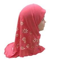Bambini musulmani piccola ragazza hijab velo circa vestito 0-7years vecchi Due strati hijab
