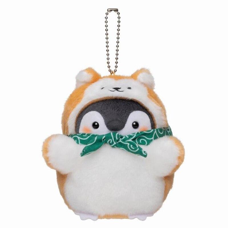 1 Pcs Kawaii Animal Penguin Shiba Dog Plush Dolls Keychains Pendant for Car Bag Stuffed Plush Toys Kids Birthday Gift