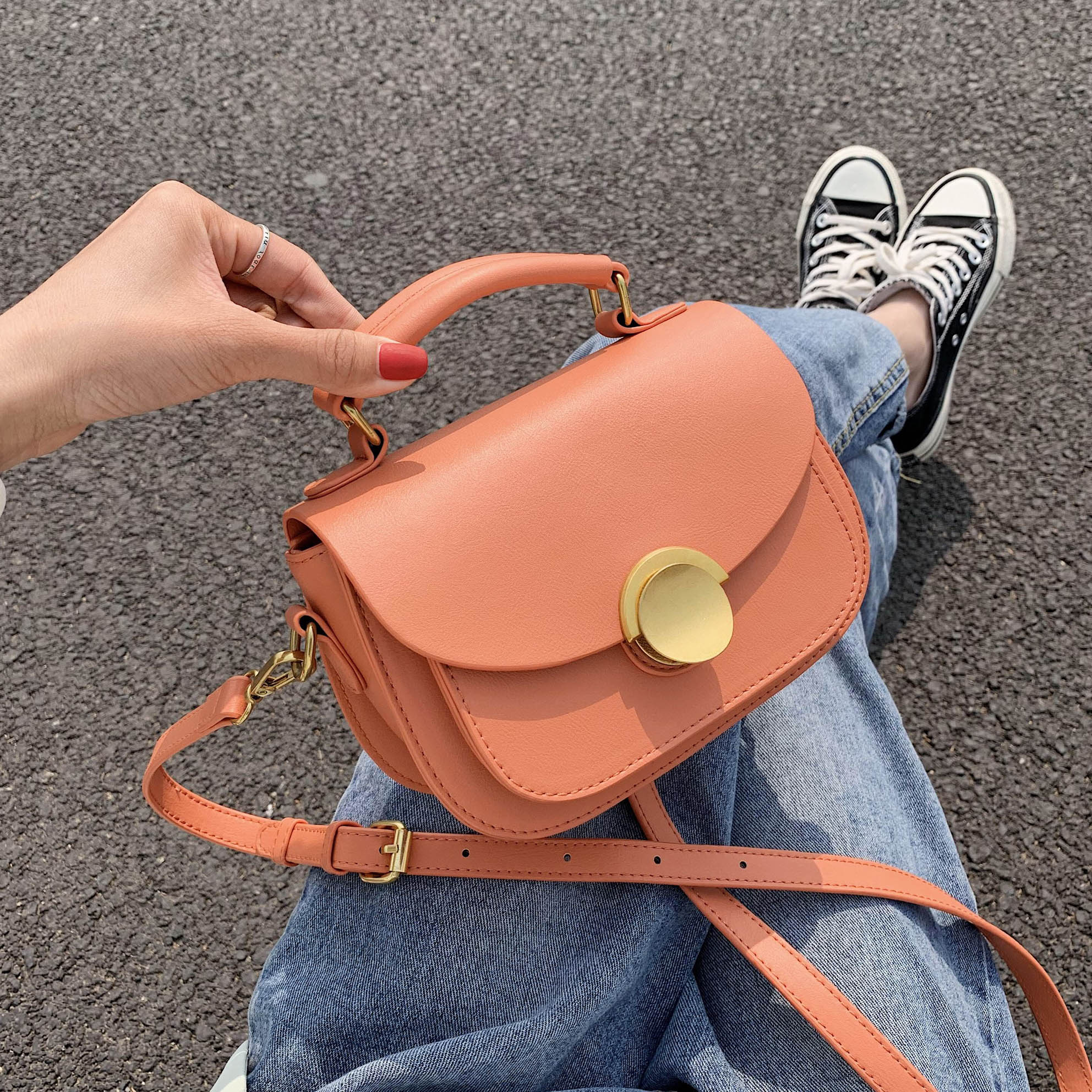 MINI Solid Color PU Leather Crossbody Bags For Women Luxury 2020 Fashion Shoulder Handbags Lady Summer Totes And Purses