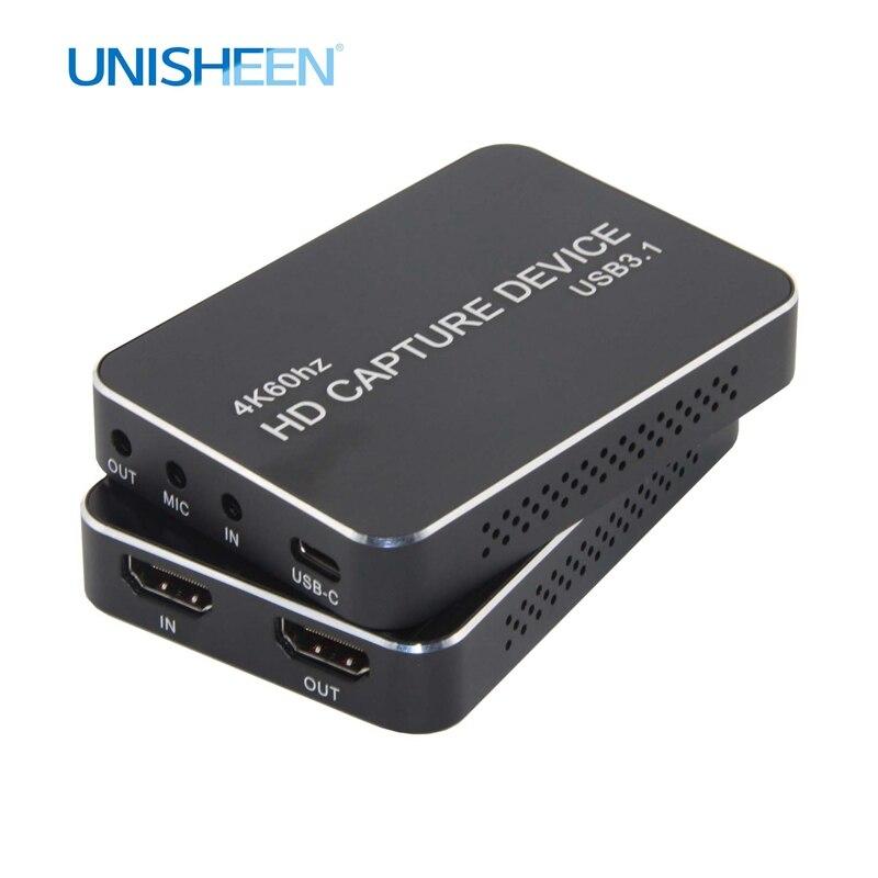Карта захвата 4K UHD USB3.0, видеоключ для игр, потоковая трансляция в прямом эфире 2160P 1440P 1080P OBS/vMix/Wirecast/Xsplit