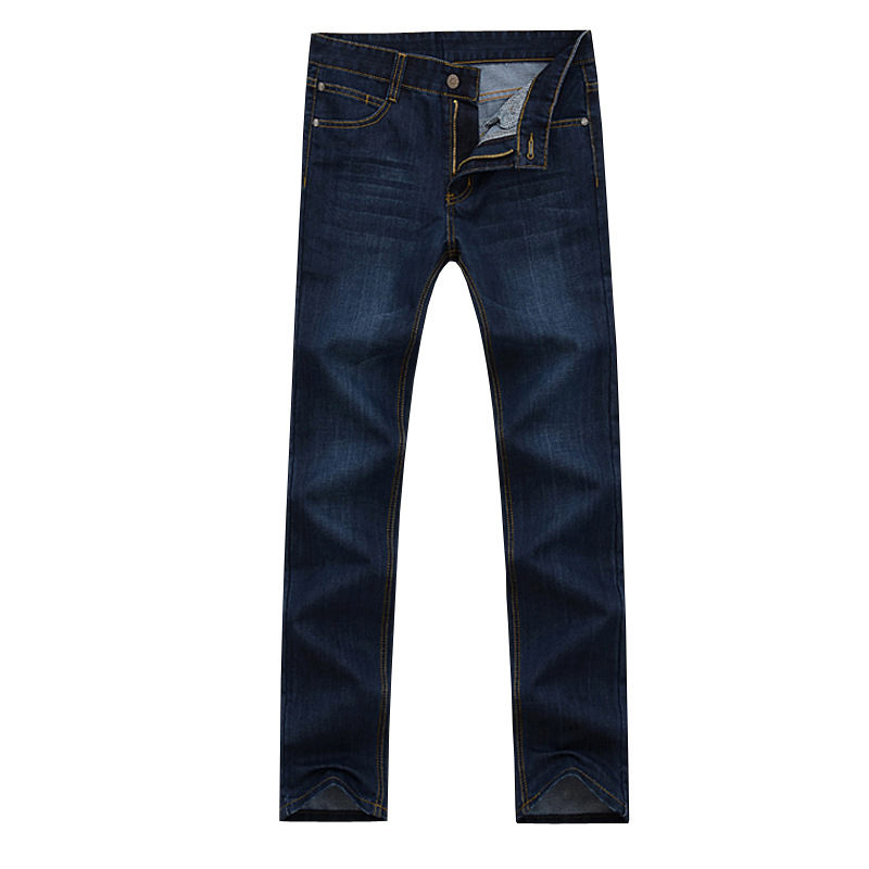 Support Jeans Men's Loose Straight Large Size Business Casual Middle-aged Spring And Summer-High-waisted Wearable Labor