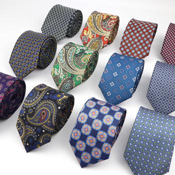 Super miękki sztuczny jedwab krawat poliestrowy nowe męskie spotkanie biznesowe Gravatas formalne 7cm szczupła moda Paisley drukowanie krawat tanie i dobre opinie ZLQ GOU WOMEN Poliester Rayon CN (pochodzenie) Dla dorosłych Krawaty Szyi krawat Jeden rozmiar 145cm*7cm