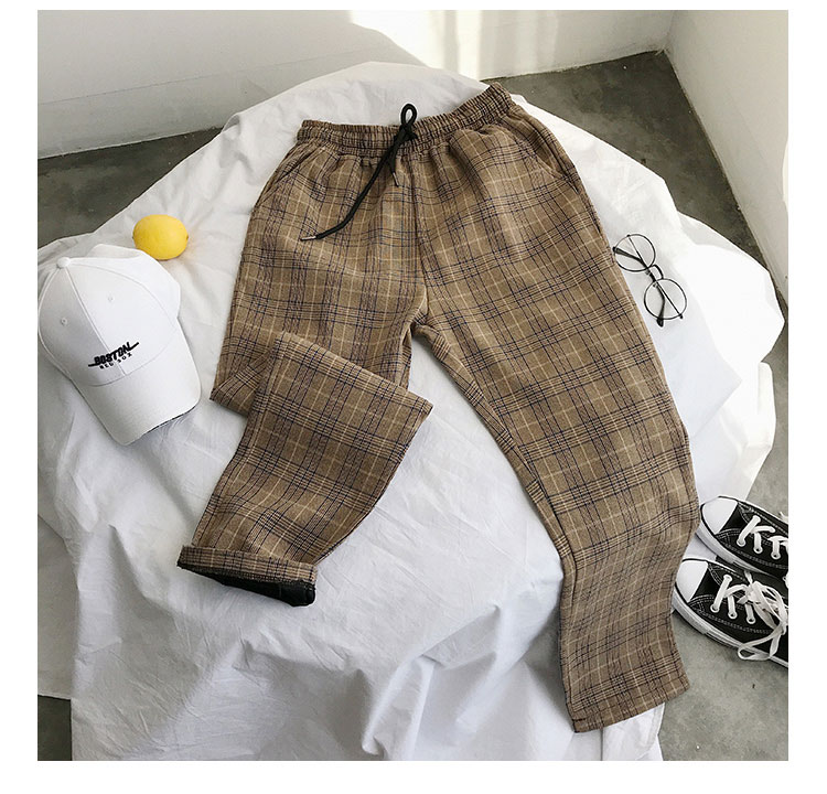 Privathinker Harajuku Plaid Pants For Women Trousers 2020 Streetwear Woman Harem Pants Autumn Ladies Causal Pants Plus Size 45