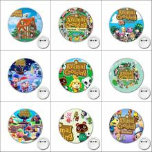 1pcs Japan anime Animal Crossing Cosplay Badge Cartoon Cute Brooch Pins for Backpacks bags Badges Button Clothes Accessories