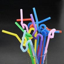 Drinking Straws Multicolor Plastic 50pcs Tea Multi-Shaped Milk Pegeant Wedding Birthday-Party