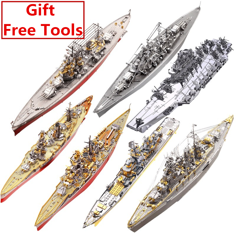 MMZ MODEL Piececool 3D Metal Puzzle Russian Japan Kongou Nagato Battleship  DIY Assemble Model Kits Laser Cut Jigsaw Toy Gift