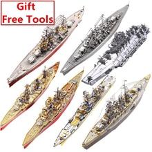 MMZ MODEL Piececool 3D Metal Puzzle Russian Japan Kongou Nagato Battleship  DIY Assemble Model Kits Laser Cut Jigsaw toy gift