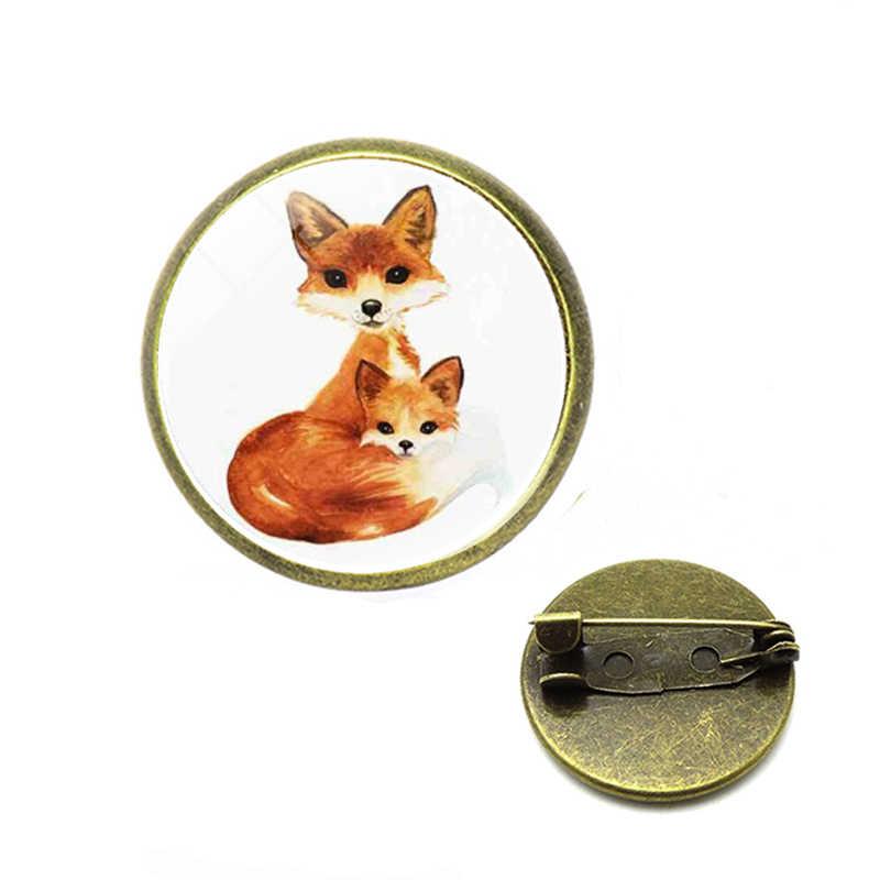 Vintage Animal Alloy  Brooch Japanese Ninja Rabbit Fire Fox Snake Kendo Sika Deer Enamel Pin Backpack Badge Friends Gifts
