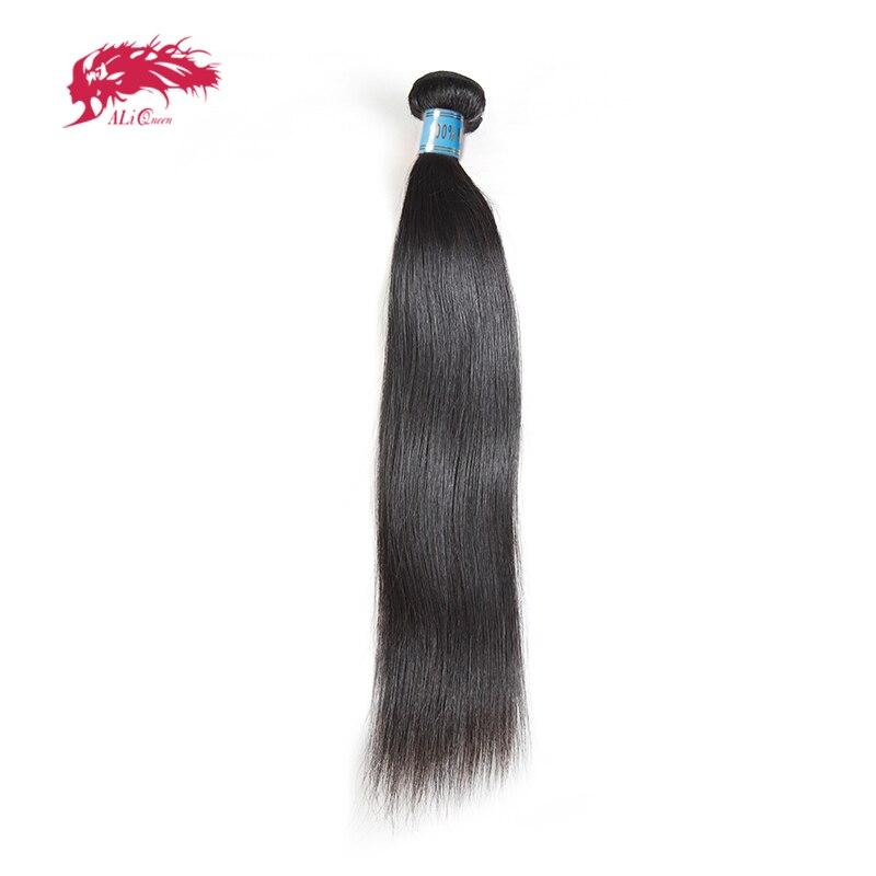 Ali Queen прямые перуанские натуральные волосы для наращивания 1/3/4 шт натуральный цвет 8