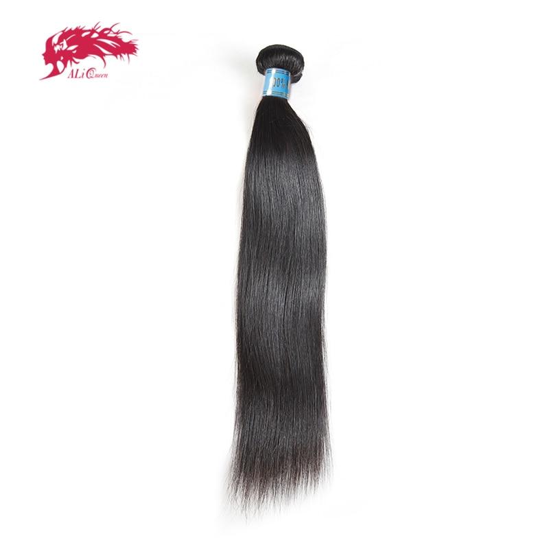Ali Queen Hair Straight Peruvian Virgin Human Hair Extensions 1/3/4 Pcs Natural Color 8