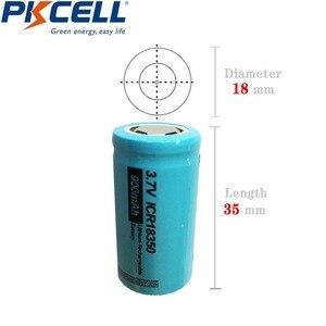 Image 5 - 2 szt. PKCELL ICR 18350 akumulator litowo jonowy 3.7V 900mAh akumulatory litowo jonowe Bateria Baterias