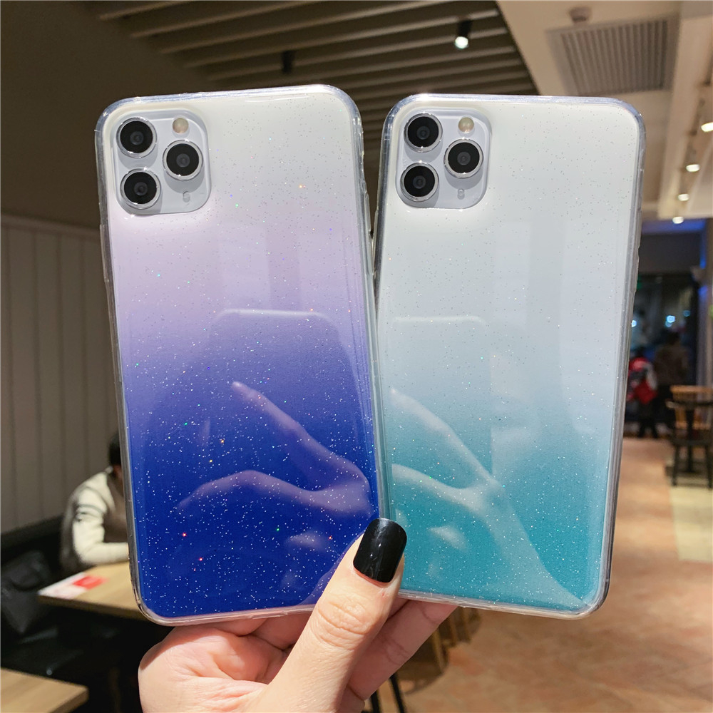 Fashion Candy Color Phone Case For Iphone 11 Pro Max X XR XS 8 7 6 6S Plus Silicone Gradient Color Soft TPU Back Cover