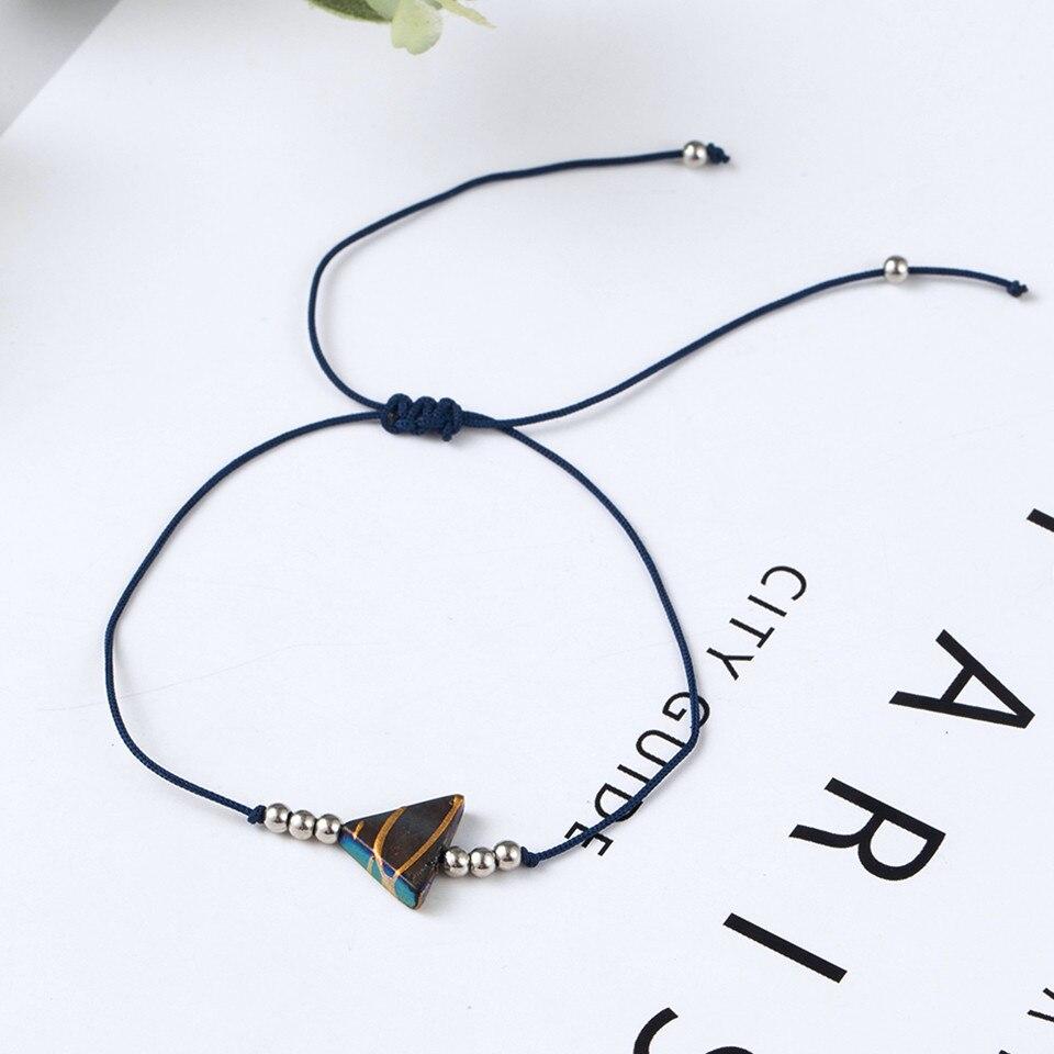 Boho Ankle Bracelet Bohemian Colorful Heart Beads Jesus Cross Turtle Butterfly Infinity Triangle Anklet Women's Leg Bracelet (50)