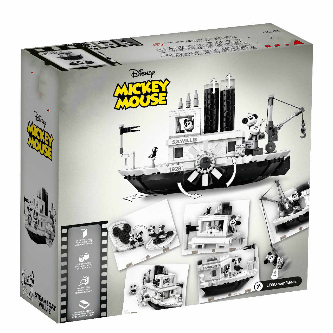 Ideas 2019 Movies Series Steamboat Willie Building Blocks Bricks Child DIY Toys Compatible with LegoGELI 21317  Toys for Girls