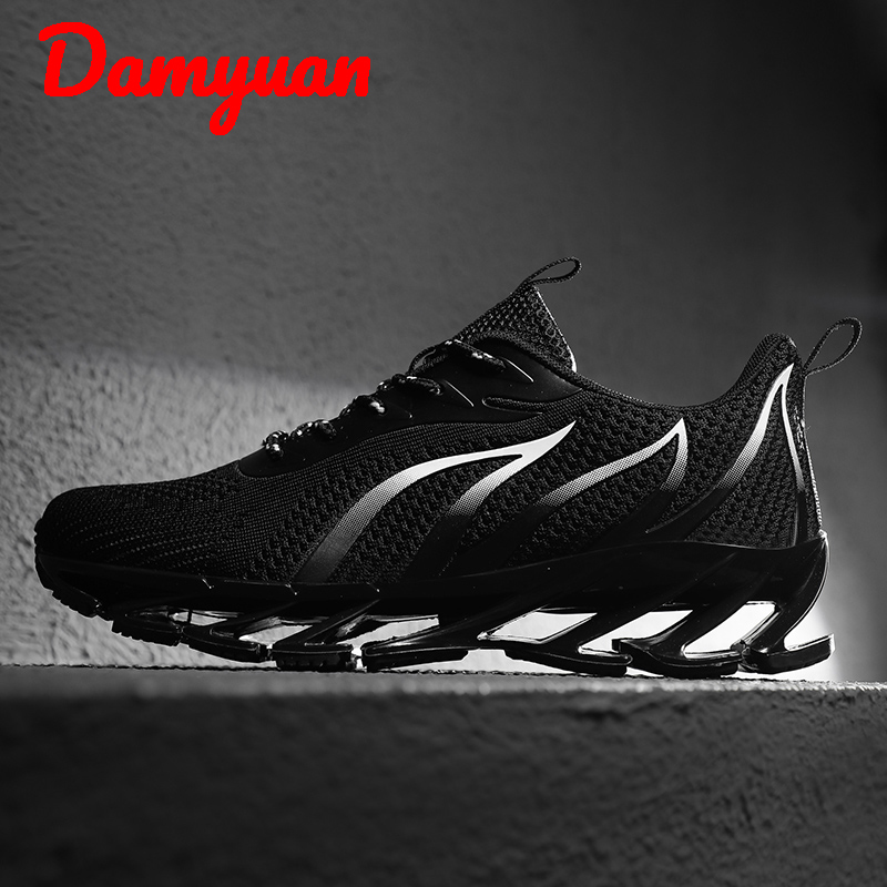 Damyuan 2019 Winter Hot Fashion Cool Dazzling Blade Man Sneakers Outdoor Leisure Slip-proof Shock-absorbing Running Shoes Big 46