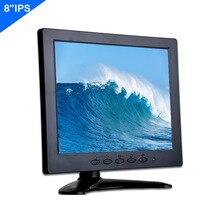 ZHIXIANDA  8  IPS 1024x768  With HDMI VGA AV BNC Input for Car Camera CCTV DVR Microscope LCD  led Monitor
