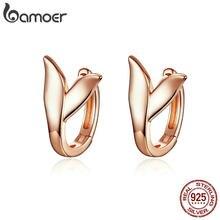 BAMOER-pendientes de plata de primera ley con forma de cola de delfín para mujer, aretes pequeños, plata esterlina 925, Color oro rosa, fiesta, BSE078
