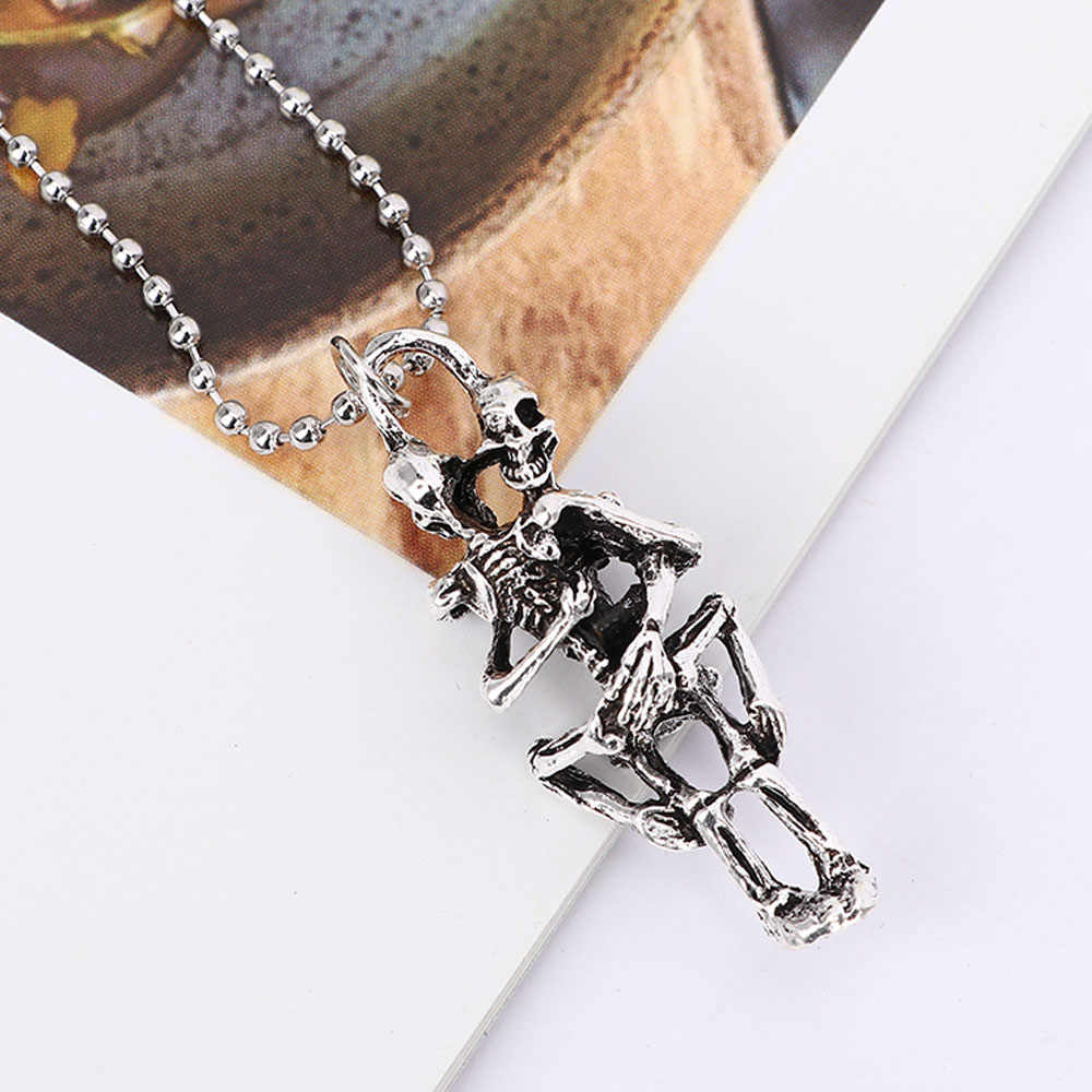 1Pc Fashion Necklace Men Infinity Stainless Steel Skull Pendant for Women Wholesale Accessories Girlfriend Personalized Gift