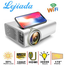 LEJIADA YG530 Mobile phone projection For Home Theater 1800 Lumen System Movie Video Home Mini HD 1080P Proyector