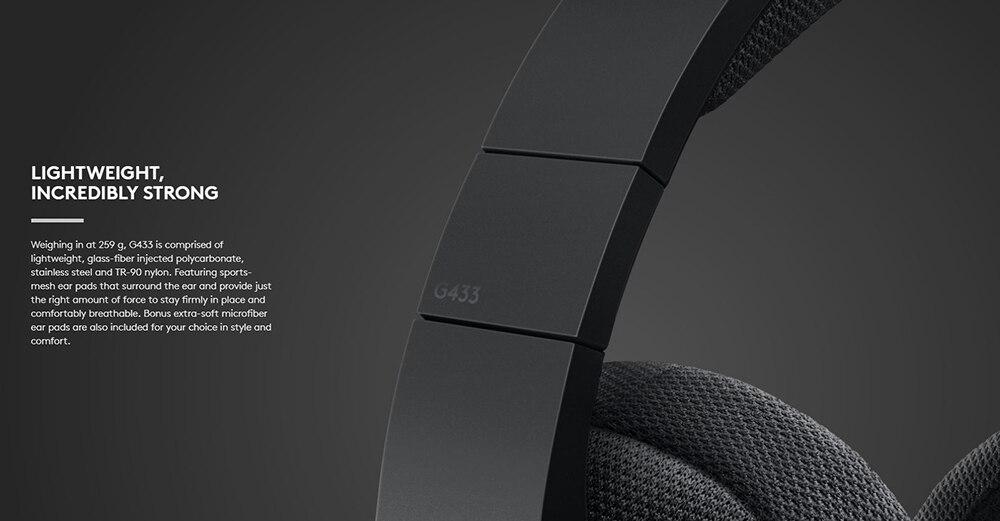 Logitech g433 7.1 surround gaming headset 3d