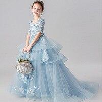 Sky Blue Vestidos de 15 anos Lace Appliques Tulle Ball Gown Formal Party Dress 2019 Girl Quinceanera Dresses Quinceanera Kjole