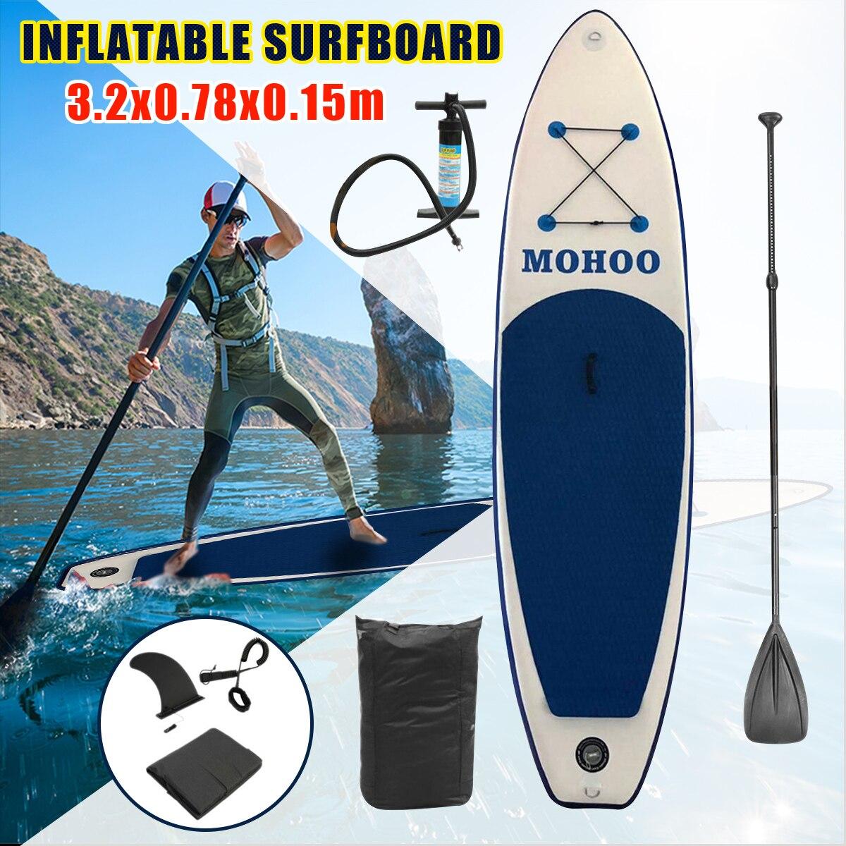 320x78x15cm gonflable Stand Up planche de surf planche de surf Sport nautique Sup planche avec pompe à pagaie pied sécurité corde trousse à outils
