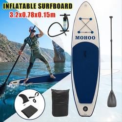 320x78x15cm inflable tabla de surf deporte de agua Sup con pie de bomba de paleta juego de Herramientas de cuerda de seguridad