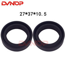 motorcycle CG125 CB125 ZJ125 TB110 front fork damper shock absorber oil seal 27*37*10.5 mm 27x37x10.5mm for Honda 125cc CG 125(China)