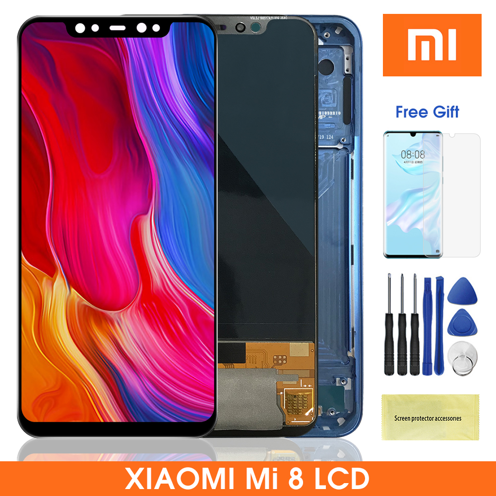 Сменный ЖК-дисплей Super Amoled 6,21 ''MI8 для Xiaomi Mi 8, ЖК-дисплей с сенсорным экраном и дигитайзером в сборе для Xiaomi 8 M1803E1A