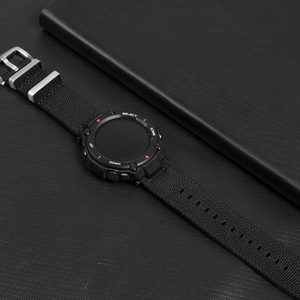 Image 5 - NATO Nylon Watch Strap For Huami Amazfit T Rex Watch Band With Screen Film For Amazfit T Rex Watch Charger