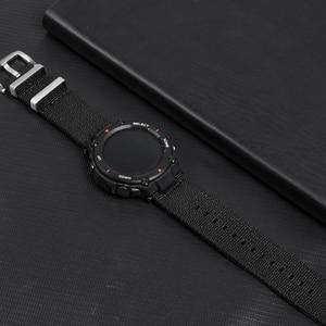 Image 5 - Nato ナイロン時計 huami amazfit t rex 時計バンド用スクリーンフィルムと amazfit t rex 腕時計充電器