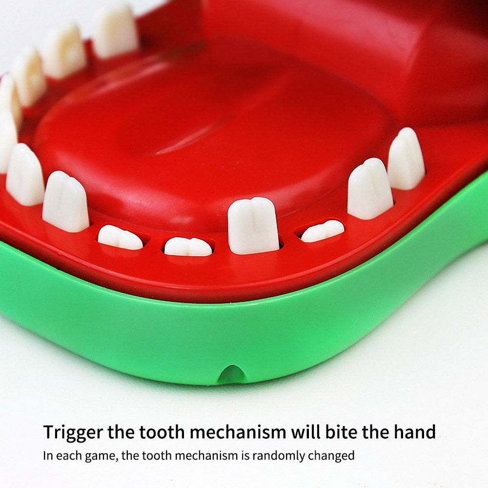 Funny Toy Mouth Dentist Bite Finger Toy Pulling Crocodile Teeth Games Toys Kids Funny Toy For