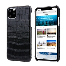 Genuine Leather Ultra Thin Case For iPhone 11 Pro Max 11Pro Phone Luxury Crocodile Slim Hard Cover Cases 2019 New Solque