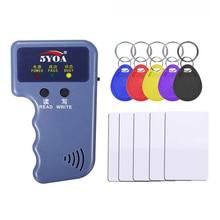 핸드 헬드 125KHz EM4100 TK4100 RFID 복사기 작가 복사기 프로그래머 리더 EM4305 T5577 재기록 가능한 ID Keyfobs 태그