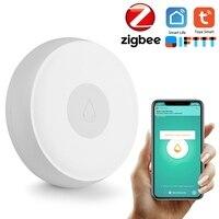 Zigbee 3.0 casa inteligente wi fi sem fio sensor de inundação tuya app automação residencial cena segurança alarme nível água detector1