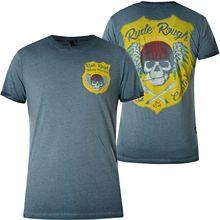 Yakuza Premium T-Shirt Vintage 404 Blue Men Summer Short Sleeves T Shirt