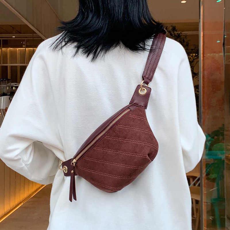 2020 mulheres famosa marca feminina sacos de cintura preto saco da cintura feminina camurça couro ombro crossbody bolsa peito
