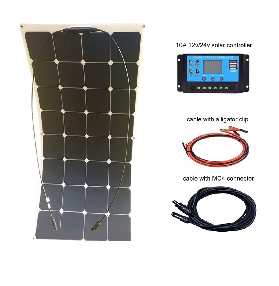 DG sunlight 100w mono sunpower Flexible Solar Panel 12V charger PET