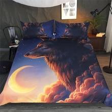 Art Moon Wolf Bedding set 3D Print Duvet Cover Pillowcase Twin queen king size Bedclothes Bed linen 3pcs home textiles