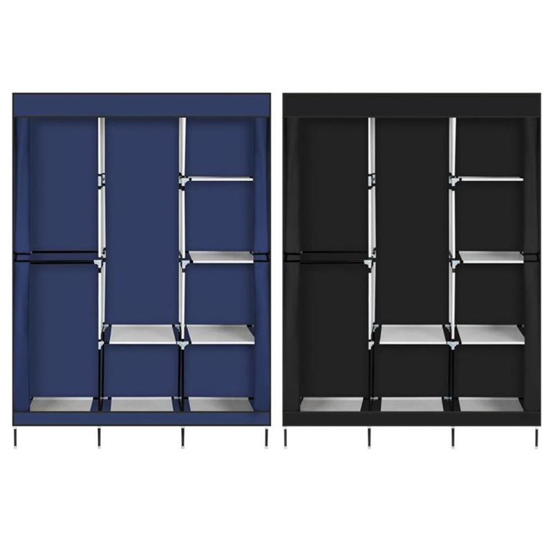 71 Inch Portable Closet Wardrobe Clothes Rack Storage Organizer With Shelf