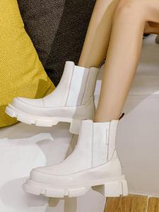 RIZABINA Ins/женские ботильоны из натуральной кожи; Модная теплая зимняя обувь на платформе с мехом на высоком каблуке; Женская повседневная обув...
